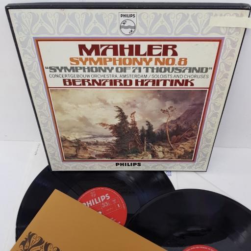 "Mahler - Concertgebouw Orchestra, Amsterdam Conducted By Bernard Haitink – Symphony No. 8 ""Symphony Of A Thousand"", 6700 049, 2x12"" LP, box set"