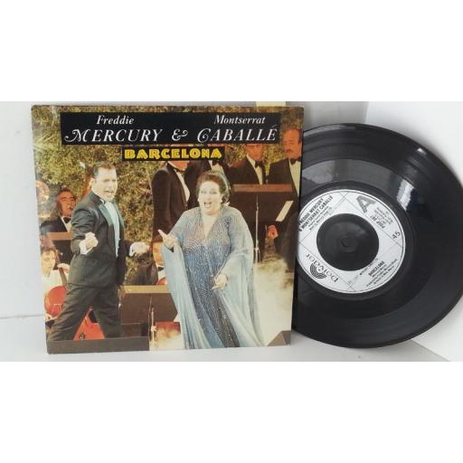 FREDDIE MERCURY & MONTSERRAT CABALLE barcelona, 7 inch single, POSP 887