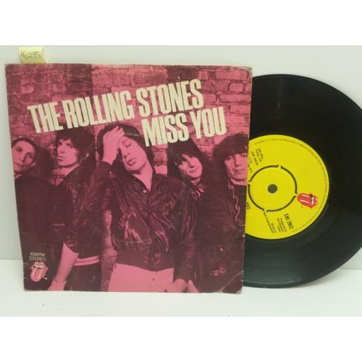 THE ROLLING STONES miss you, far away eyes. 7 inch picturte sleeve. EMI 2802