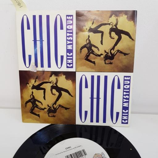 "CHIC, chic mystique single without rap, B side chic mystique lovely radio edit without rap, W0083, 7"" single"