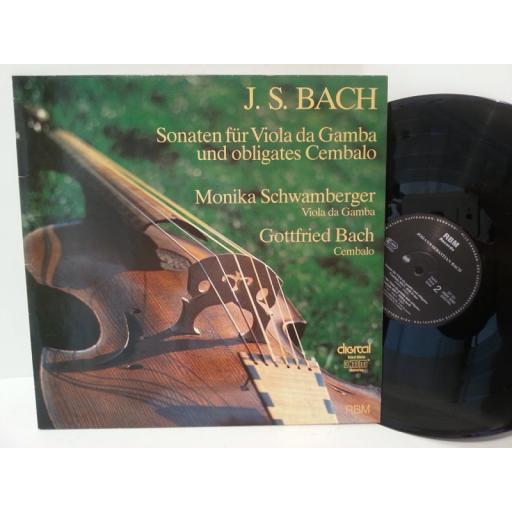 BACH sonaten fur viola da gamba und obligates cembalo, RBM 3082