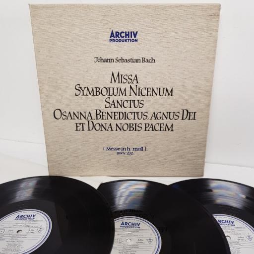 "Johann Sebastian Bach – Missa Symbolum Nicenum Sanctus Osanna, Benedictus, Agnus Dei Et Dona Nobis Pacem (Messe In H-Moll) BWV 232, 14 190/92, 3x12"" LP, box set, mono"