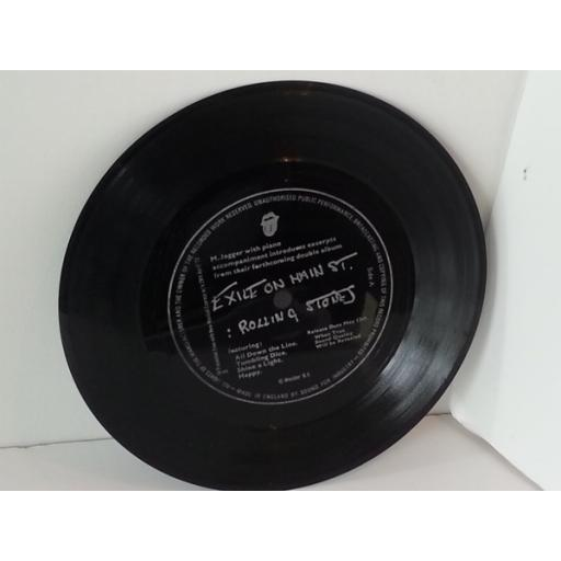 THE ROLLING STONES, THE CURVED AIR, FANNY new musical express, 7 inch single, flexi disc, SFI 107