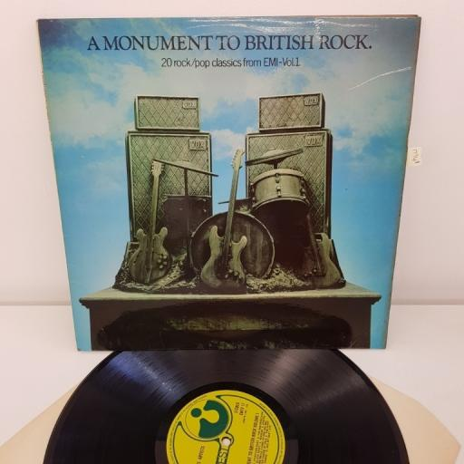 A MONUMENT TO BRITISH ROCK 20 ROCK POP CLASSICS FROM EMI-VOL.1 EMTV 17 INCLUDES: DEEP PURPLE, HUMBLE PIE. SMALL FACES. THEM