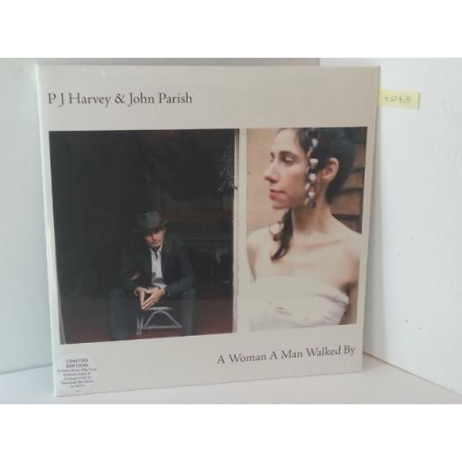 """PJ HARVEY AND JOHN PARISH a woman a man walked by. Includes poster and 12"""" x 12"""" sleeve artwork. 1797426"""