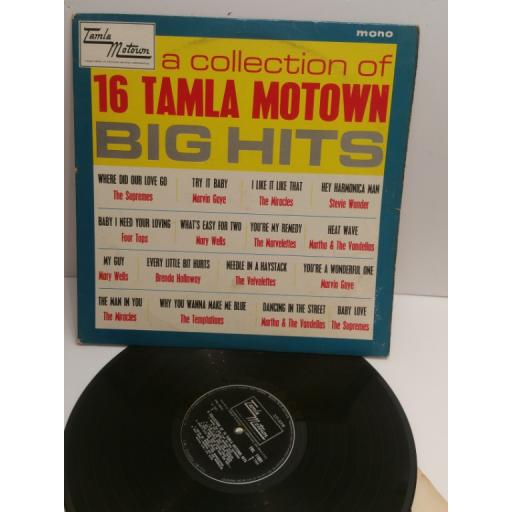 A COLLECTION OF 16 TAMLA MOTOWN BIG HITS Supremes, Marvin Gaye, Marvelettes, Micacles, Mary Wells TML 11001