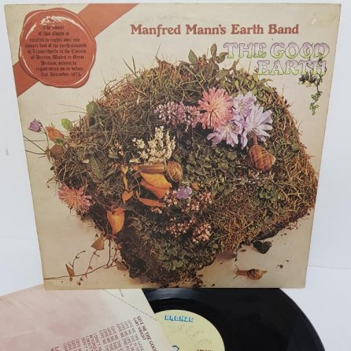 "MANFRED MANN'S EARTH BAND, the good earth, ILPS 9306, 12"" LP"