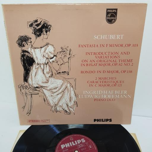 "Schubert, Ingrid Haebler, Ludwig Hoffmann ‎– Piano Music For Four Hands, 802 817 LY, 12"" LP"