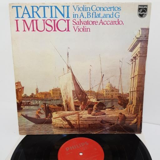 "Giuseppe Tartini, Salvatore Accardo, I Musici – Violinkonzerte A-dur, B-dur, G-dur, 6500 784, 12"" LP"
