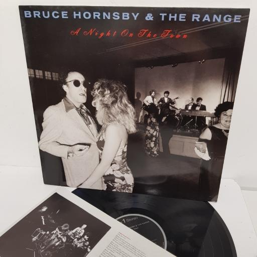 "BRUCE HORNSBY & THE RANGE, a night on the town, PL 82041, 12"" LP"