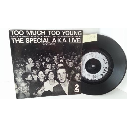 THE SPECIAL A.K.A FEATURING RICO too much too young, 7 inch single, TT7
