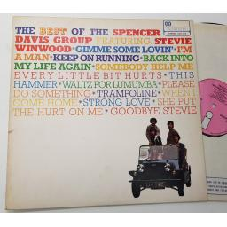 "PINK ""i"" Island label . SPENCER DAVIS GROUP the best of the spencer davis group featuring steve winwood.ILPS 9070"
