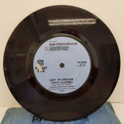 "JOHN FRED & HIS PLAYBOY BAND - Judy In Disguise (With Glasses), B side - When The Lights Go Out, 7""single, solid centre, blue label, 7N.25442"
