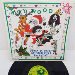 "ROY WOOD & WIZZARD - I Wish It Could Be Christmas Everyday, 12"" single, COMP., REISSUE. 12HAR 1573. Green HARVEST label"