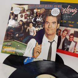 HUEY LEWIS AND THE NEWS - Sports, 12 inch LP, CHR 1412, blue Chrysalis label. Includes 12 inch single: The Power Of Love, HUEYX 1