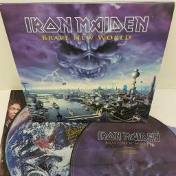 "IRON MAIDEN - Brave New World. New unplayed opened 1st press, 2x12""LP, picture disc. 7243 5 26605 1 3"