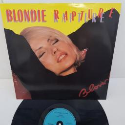 "BLONDIE - Rapture, CHS 12 2485, 12"" LIMITED EDITION. B side - Live It Up Extended Version"