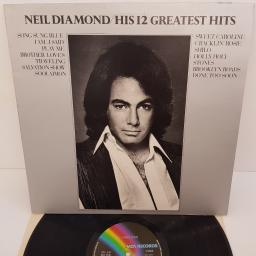"NEIL DIAMOND - His 12 Greatest Hits, MCF 2550 / MAPS 7400, 12"" LP"