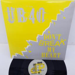 "UB40 - Don't Break My Heart, DEP 22-12, 12"" single, B side-Mek Ya Rok"