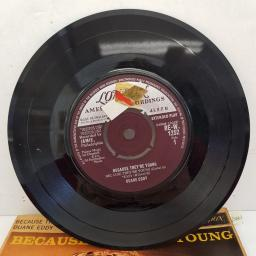 "DUANE EDDY - Because They're Young, 7""EP, MONO, RE-W 1252, purple/silver label"
