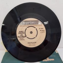 "NANCY SINATRA, NANCY SINATRA & LEE HAZLEWOOD - You Only Live Twice, B side - Jackson. 7""single, push out centre, cream label. RS.20595"