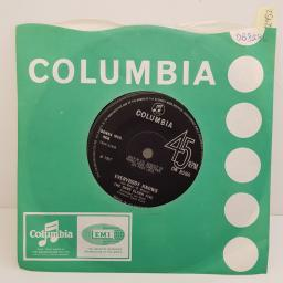 THE DAVE CLARK FIVE - Everybody Knows, B side - Concentration Baby, 7 inch single, DB 8286. Black label with silver font, solid centre