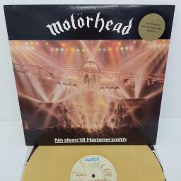 MOTORHEAD - No Sleep 'Til Hammersmith, 12 inch LP, BRON 535, gold vinyl, cream label