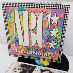 ABC - How To Be A Zillionaire, 12 inch LP, NTRH 3, pink/yellow and blue/yellow labels