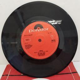 "THE BEE GEES - World, B side - Sir Geoffrey Saved The World, 7""single, solid centre, 56220, red Polydor label"