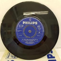 "DUSTY SPRINGFIELD - You Don't Have To Say You Love Me, B side - Every Ounce Of Strength, 7""single, mono, BF 1482, blue label with silver font"