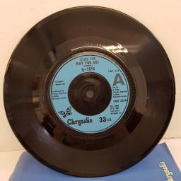 "Q-TIPS - Stay The Way You Are, B side - Sweet Talk, Lookin' For Some Action, CHS 2518, 7""single, limited edition, blue label with black font"