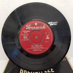 "BRENDA LEE - All Alone Am I, 7""EP, red label with silver font, OE 9492"