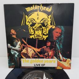 MOTORHEAD - 'The Golden Years' Live EP, 7 inch EP, 4 prong centre. BRO 92, black/yellow label