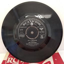 "THE MONKEES - I'm A Believer, B side - (I'm Not Your) Steppin' Stone, 7""single, RCA 1560, black label with silver font"