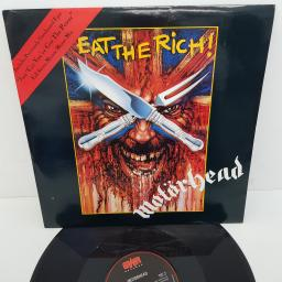 MOTORHEAD - Eat The Rich, B side - Just 'Cos You've Got The Power, Cradle To The Grave, 12 inch , GWT 6, black/red label