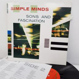 SIMPLE MINDS - Sons and Fascination, 12 inch LP, 203 959-320, green and red label