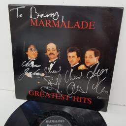 MARMALADE - Marmalade's Greatest Hits, SIGNED COPY 12 inch LP, COMP., black label with silver font