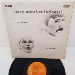 "NANCY SINATRA & LEE HAZLEWOOD - Nancy & Lee Again, SF 8240, 12""LP, orange RCA VICTOR label"