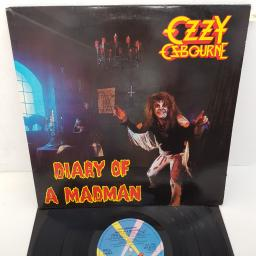 OZZY OSBOURNE - Diary Of A Madman, 12 inch LP, JET/LP 237. Blue JET RECORDS label