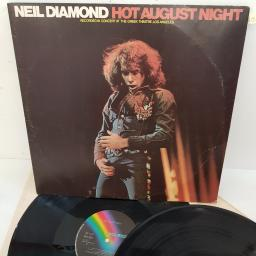 "NEIL DIAMOND - Hot August Night recorded in concert at the Greek Theatre, LA , MCF 2551, 2 X 12"" LP"