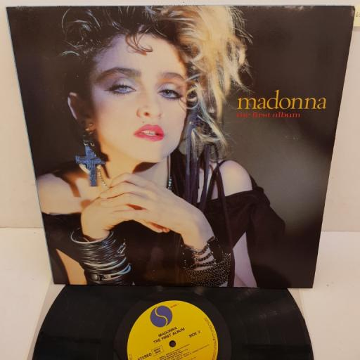 "MADONNA - The First Album, WX22, 12""LP, REISSUE, yellow SIRE label"