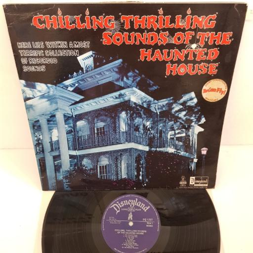 """DISNEY - Chilling, Thrilling Sounds of the Haunted House, DQ 1257, purple DISNEYLAND label. 12""""LP/MONO"""