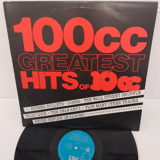 "10CC - 100cc Greatest Hits of 10cc, 12""LP, COMP. UKAL 1012, light blue labels with silver print"