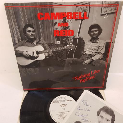 """CAMPBELL AND REID - 'Nothing Like The First', AS 042, 12"""". Includes signed photo and dedication"""