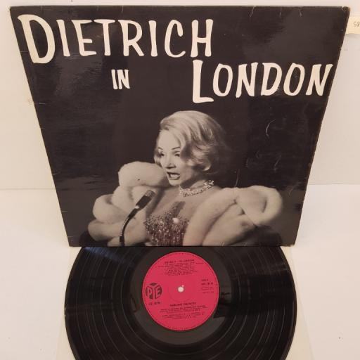 "MARLENE DIETRICH - Dietrich in London, NPL.18113, 12""LP"
