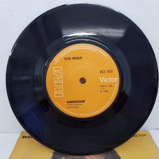 "ELVIS PRESLEY - Don't Cry Daddy, B side - Rubberneckin'. 7""single, RCA 1916, orange label"