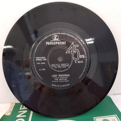 """THE BEATLES - Lady Madonna, B side - The Inner Light, 7""""single, solid centre. R 5675"""