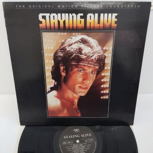 "BEE GEES, FRANK STALLONE, TOMMY FARAGHER, CYNTHIA RHODES - The Original Motion Picture Soundtrack, Staying Alive. RSBG 3, 12""LP. Black RSO label"