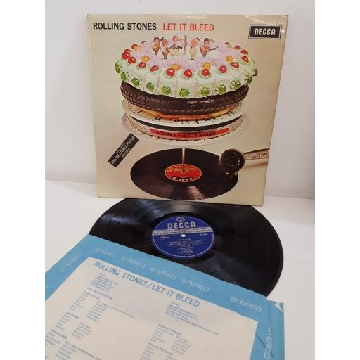 1st STEREO PRESSING 1969, NO POSTER. THE ROLLING STONES, let it bleed, SKL 5025
