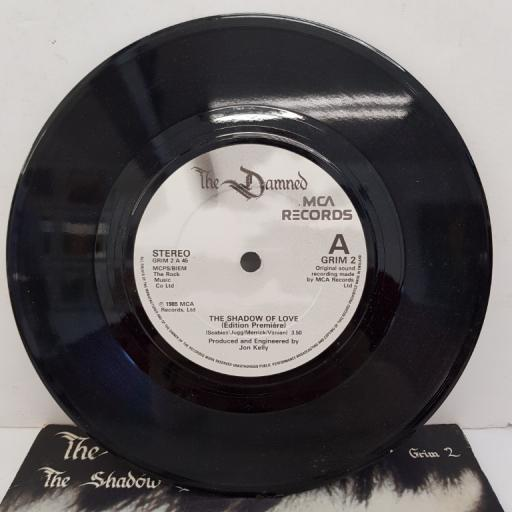 "THE DAMNED - The Shadow Of Love, B side - Nightshift. 7""single, GRIM 2"